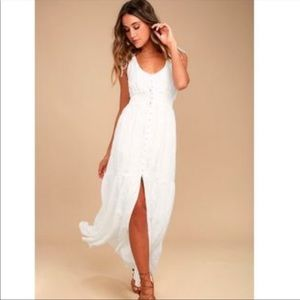 White lulus maxi dress